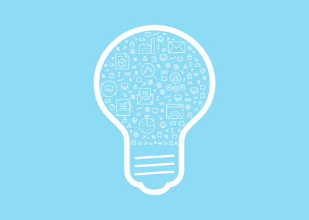 Business innovation - vector illustration stock photography