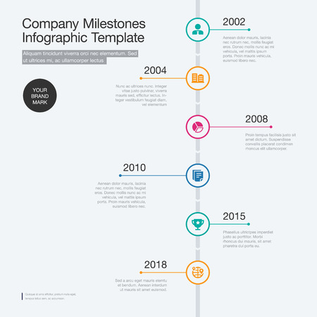Vector infographics for the company milestones