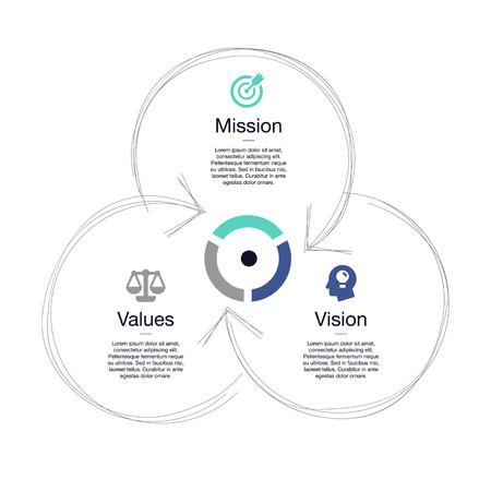 Visualización simple de un diagrama, aislado en un fondo blanco. Fácil de usar para su sitio web o presentación. Ilustración de vector