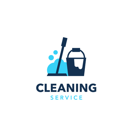 Professional cleaning company logo design. Modern flat design style for your company branding. Illustration