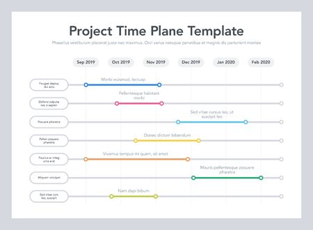 Business Project Time Plan Template Easy to use for your website or presentation.