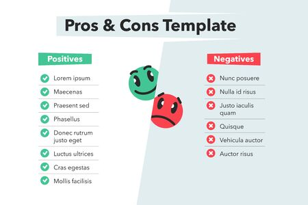 Simple infographic with funny emoji symbols isolated on light background. Easy to use for your website or presentation.