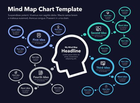 Simple infographic with mind map - Stock Vector Easy to use for your design or presentation.