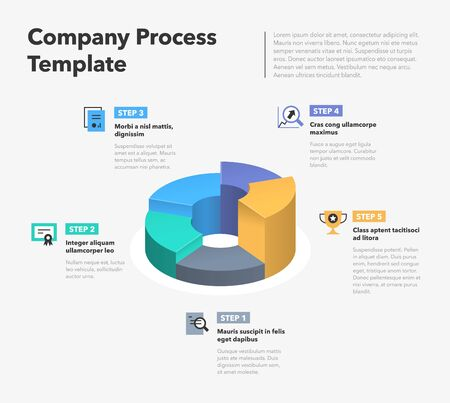 Modern business infographic for company process. Easy to use for your website or presentation. Ilustracja