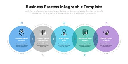 Modern business process infographic template. Easy to use for your website or presentation.