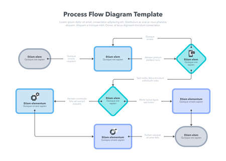 Modern infographic for process flow diagram. Flat design, easy to use for your website or presentation.