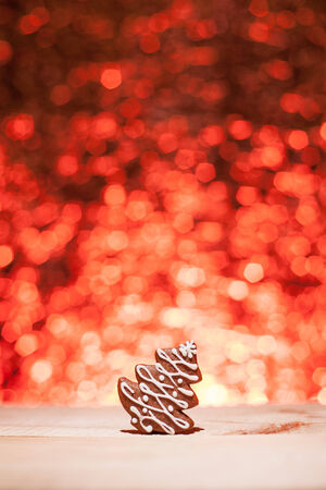 Christmas gingerbread with red blurred background looks like fireworks Stock Photo - 22747422