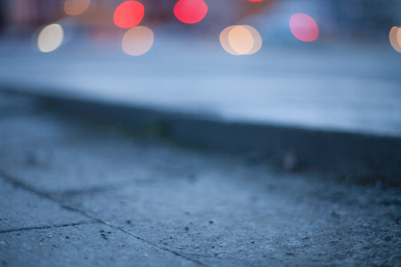 Blurred background - night street with street lights, great for design. Stock Photo - 22747438