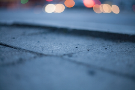 Blurred background - night street with street lights, great for design. Stock Photo - 22747445