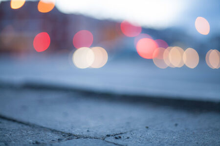 Blurred background - night street with street lights, great for design. Stock Photo - 22747446