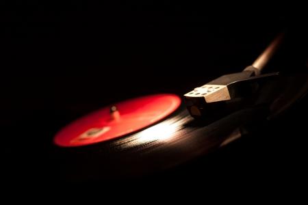 Closeup of vintage gramophone. Stock Photo