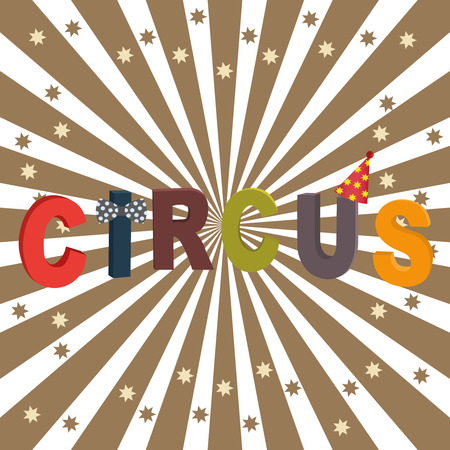 execution: Background of the poster of circus in design execution. Vector Illustration