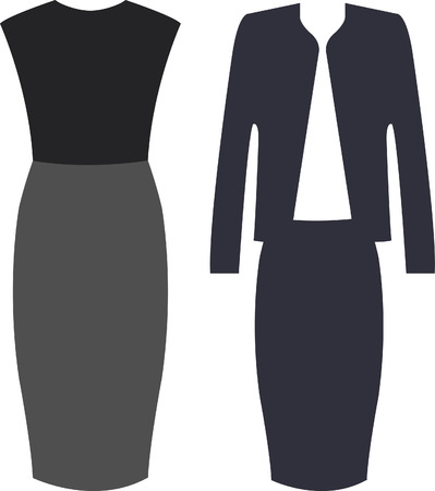 The Outfits for the Professional Business Women. Vector Illustration
