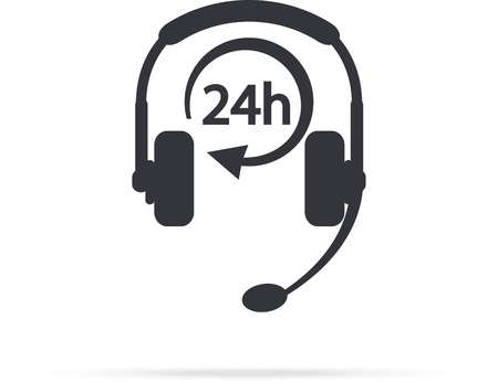 24 hours: Service Call center for customers available online around the clock or 24 hours a day