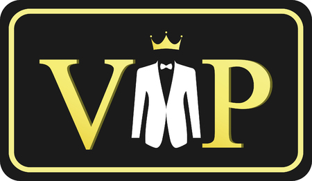 very important person: Very important person - VIP icon Illustration
