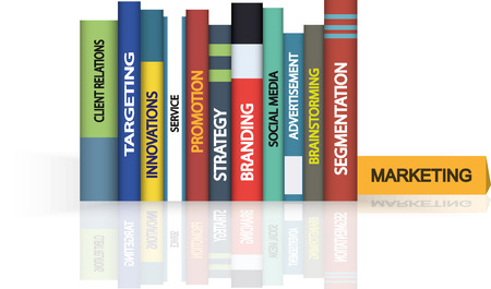 Education books - Marketing.  Vector