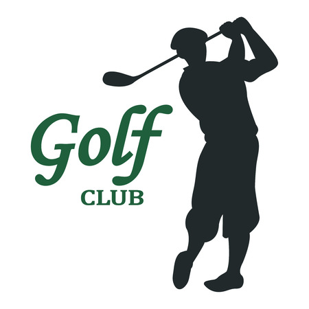 Golfer playing vector  design template. Golf club tournament concept icon
