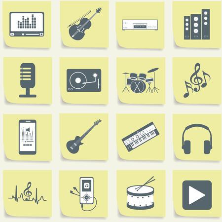 musical instruments Иллюстрация