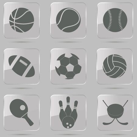 symbol sport: Vektor-Illustration der Auflistung der verschiedenen Sport