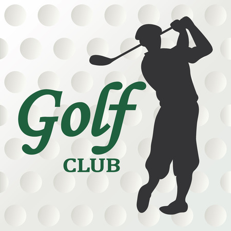 putter: Golf club sign