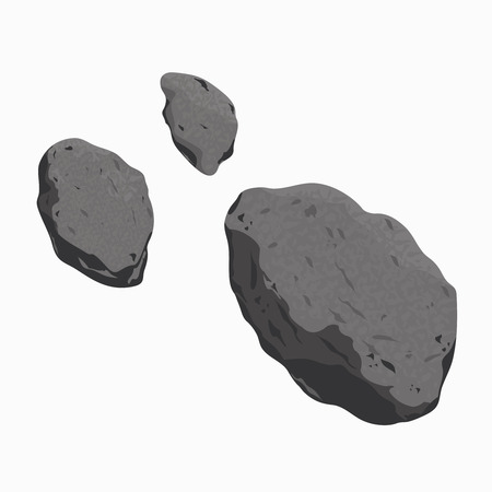 meteor crater: vector illustration of an asteroid and meteorite. Falling Meteorite with asteroid icon illustration