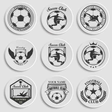 collegiate: Set of Soccer Football Badge Design Templates