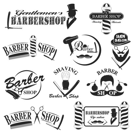 barbershop: Barbershop tool collection, set of barbershop instruments
