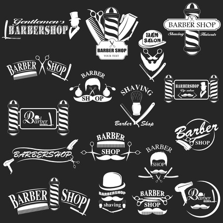barbershop: Barbershop tool collection, set of barbershop instruments
