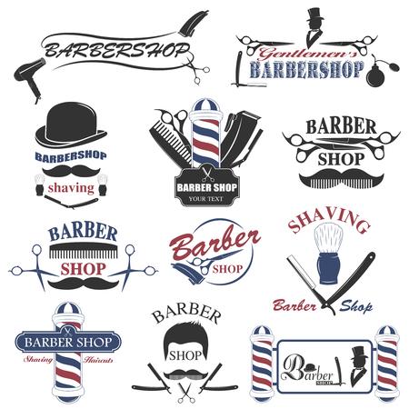 Barbershop gereedschap collectie, set van barbershop instrumenten