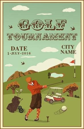 golf labels, badges and emblems Illustration