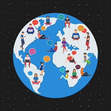 Global worldwide communication concept
