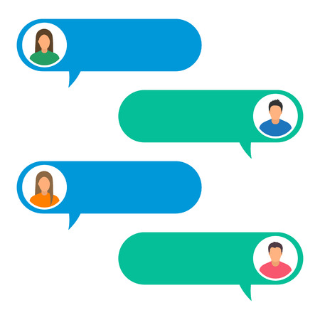 Illustration concept of online chat