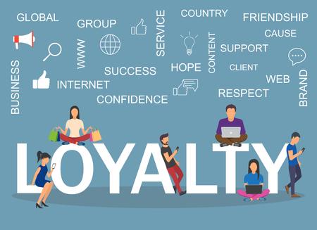Loyalty concept illustration. Idea of customers, feedback  イラスト・ベクター素材