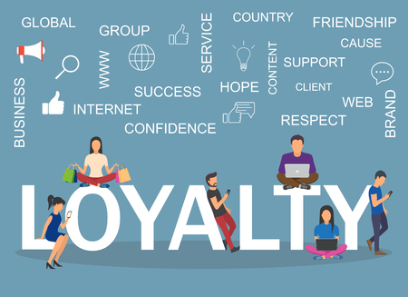 Loyalty concept illustration. Idea of customers, feedback Stock Illustratie