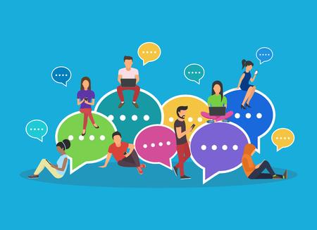 Speech bubbles for comment