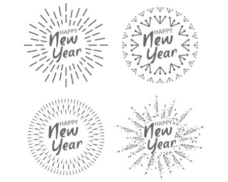 Happy New 2020 Year. Holiday Vector Illustration With Festive Typographic Composition.