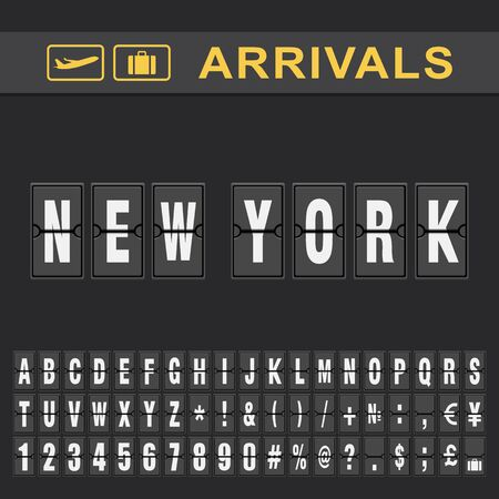 New york Airport Time table for departures
