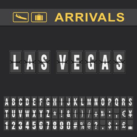 Las vegas Airport Time table for departures and arrivals