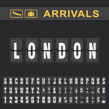 London Airport Time table for departures and arrivals