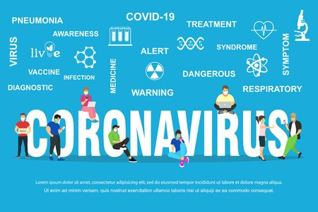 Dangerous nCoV coronavirus, pandemic risk alert Symptoms. Vector illustration