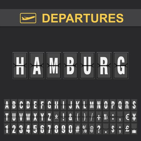 Departure and Arrival sign at Hamburg Airport Stock Ilustração
