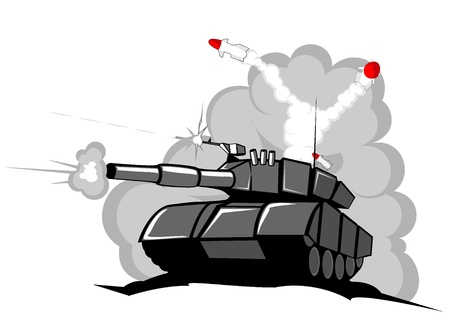 battle tank in action