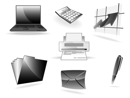 set of office icons Stock Vector - 9501623