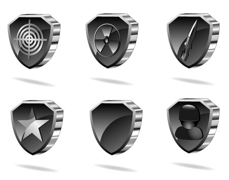 set of shield icons Stock Vector - 9531094