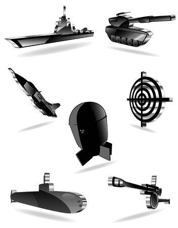 set of war icons. vector 1 Stock Vector - 9531093