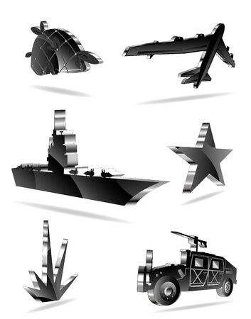 set of war icons. vector 2 Stock Vector - 9531095
