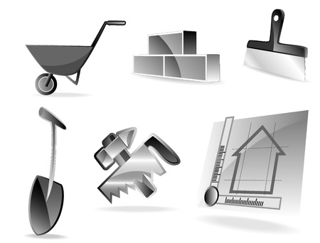 set of building icons Stock Vector - 9535224