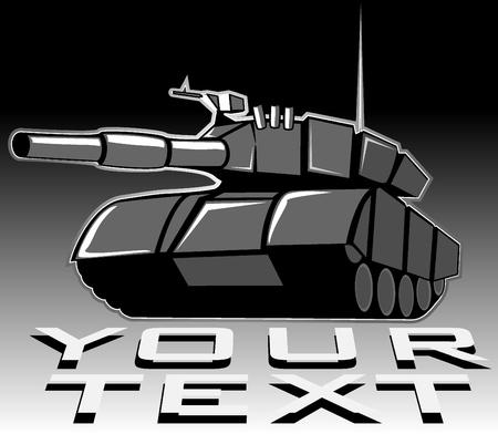 dangerous weapons: illustration of tank Illustration