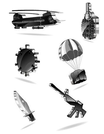 set of war icons. Stock Vector - 10070160
