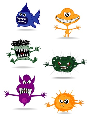 set of monsters. vector 2 Illustration